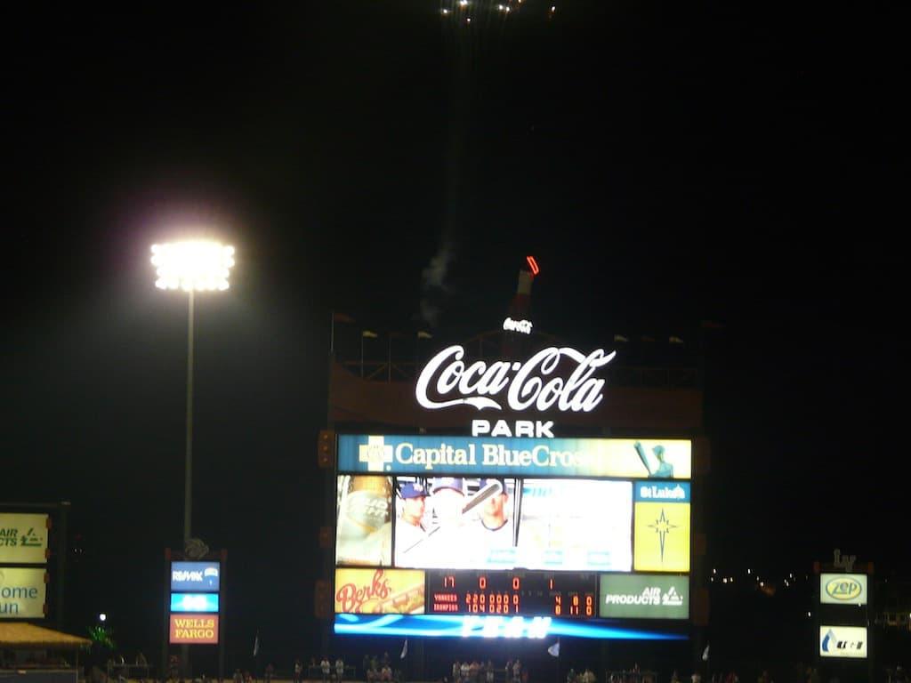 Coca-Cola Park Scoreboard