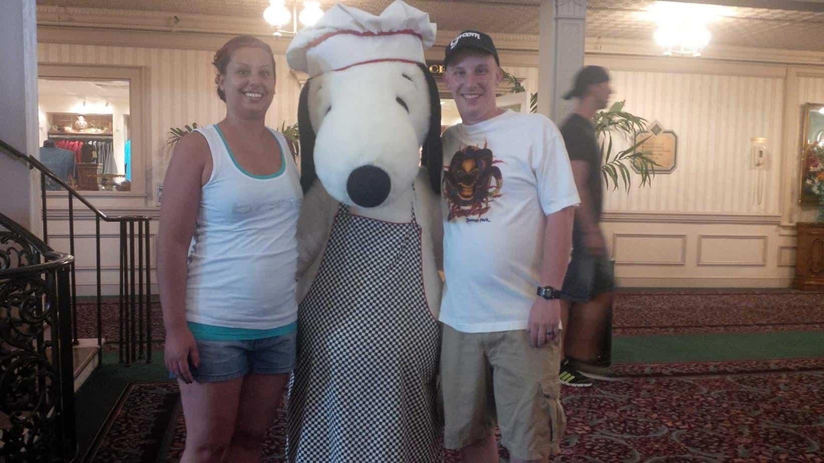 Bill, Christine & Chef Snoopy