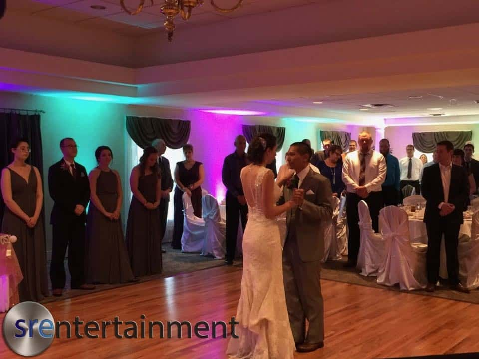 Eddie & Trista Wedding Uplighting 6/3/17
